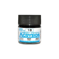 GUNZE Mr Hobby Acrysion Color N018 STEEL 10ml