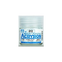 GUNZE Mr Hobby Acrysion Color N020 FLATCLEAR 10ml