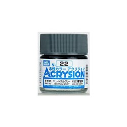 GUNZE Mr Hobby Acrysion Color N022 N0EUTRALGRAY 10ml
