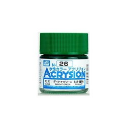 GUNZE Mr Hobby Acrysion Color N026 BRIGHTGREEN0 10ml