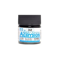 GUNZE Mr Hobby Acrysion Color N032 GERMAN0GRAY 10ml