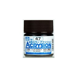 GUNZE Mr Hobby Acrysion Color N047 REDBROWN0 10ml