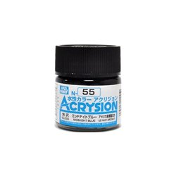 GUNZE Mr Hobby Acrysion Color N055 MIDN0IGHTBLUE 10ml