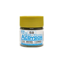 GUNZE Mr Hobby Acrysion Color N058 IN0TERIORGREEN0 10ml