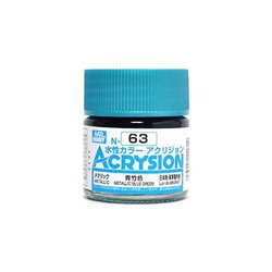 GUNZE Mr Hobby Acrysion Color N063 METALLICBLUEGREEN0 10ml