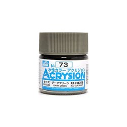 GUNZE Mr Hobby Acrysion Color N073 DARKGREEN0 10ml