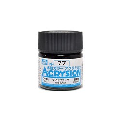 GUNZE Mr Hobby Acrysion Color N077 TIREBLACK 10ml
