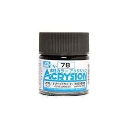 GUNZE Mr Hobby Acrysion Color N078 OLIVEDRAB2 10ml