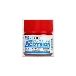 GUNZE Mr Hobby Acrysion Color N086 REDMADDER 10ml