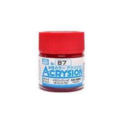 GUNZE Mr Hobby Acrysion Color N087 METALLICRED 10ml