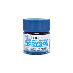 GUNZE Mr Hobby Acrysion Color N088 METALLICBLUE 10ml