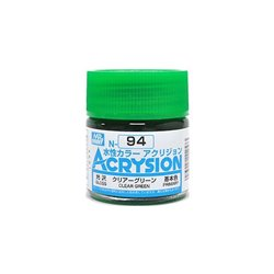 GUNZE Mr Hobby Acrysion Color N094 CLEARGREEN0 10ml