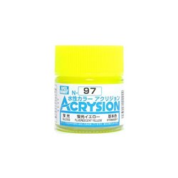GUNZE Mr Hobby Acrysion Color N097 FLUORESCEN0TYELLOW 10ml