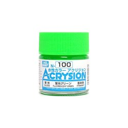 GUNZE Mr Hobby Acrysion Color N100 FLUORESCENTGREEN 10ml