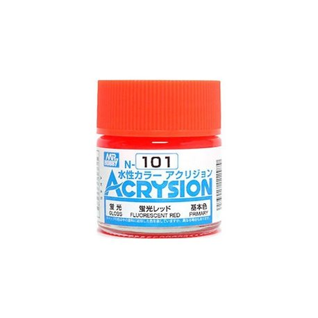 GUNZE Mr Hobby Acrysion Color N101 FLUORESCENTRED 10ml