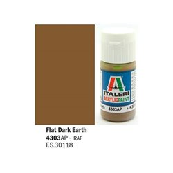 ITALERI Acrylic 4303AP Flat Dark Earth 20ml