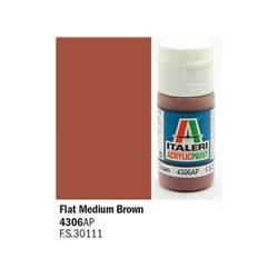 ITALERI Acrylic 4306AP Flat Medium Brown 20ml