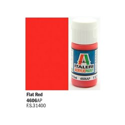 ITALERI Acrylic 4606AP Flat Red 20ml