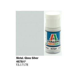ITALERI Acrylic 4678AP Gloss Silver 20ml