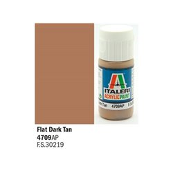 ITALERI Acrylic 4709AP Flat Dark Tan 20ml