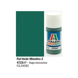 ITALERI Acrylic 4723AP Flat Verde Mimetico 2 20ml
