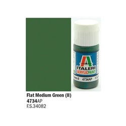 ITALERI Acrylic 4734AP Flat Medium Green (II) 20ml