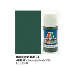 ITALERI Acrylic 4781AP Dunkelgrun RLM 71 20ml