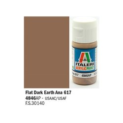 ITALERI Acrylic 4846AP Flat Dark Earth Ana 617 20ml