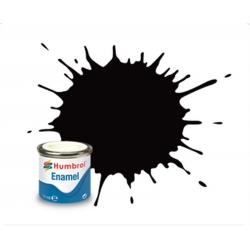 HUMBROL Peinture Enamel 85 COAL BLACK 14ml SATIN