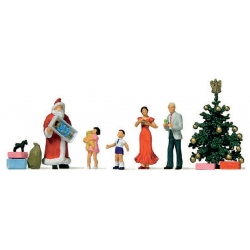 Preiser 10652 Figurines HO 1/87 Joyeux Noël - Merry Christmas