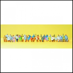 Preiser 14416 Figurines HO 1/87 Personnages assis 48 figurines