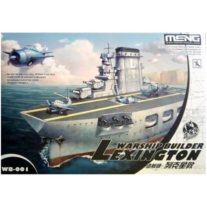 Meng WB-001 Egg Warship builder Aircraft carrier Lexington