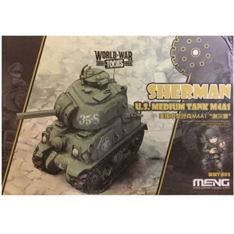 Meng WWT-002 Egg World War Toons Sherman U.S. Medium Tank M4A1