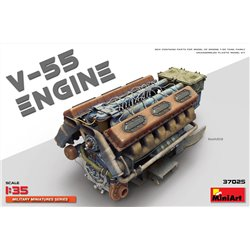 Miniart 37025 1/35 V-55 Engine for T-55 Tank family
