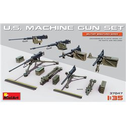 Miniart 37047 1/35 U.S. Machine Gun Set (Browning M1919, M2 & Equipment)