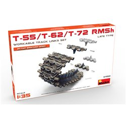 Miniart 37052 1/35 T-55/T-62/T-72 RMSh Workable Track Links Set Late Type