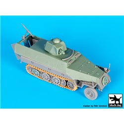 Black Dog T72093 1/72 Sd.Kfz. 251 with Hotchkiss Turret Conversion Set