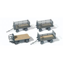 Preiser 17126 HO 1/87 Véhicule Electrique Avec 3 Wagons - Electric Vehicle With 3 Trailers