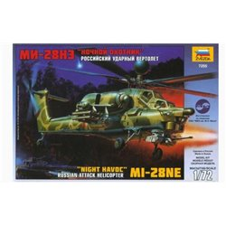 "ZVEZDA 7255 1/72 ""NIGHT HAVOC"" MI-28NE RUSSIAN ATTACK HELICOPTER"