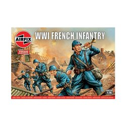 AIRFIX A00728V 1/76 WWI French Infantry Vintage Classics
