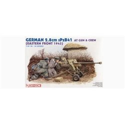 DRAGON 6056 1/35 GERMAN 2.8 cm sPzB41 AT Gun & Crew (Eastern Front 1943)