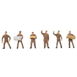 Faller 155359 HO 1/87 Personnel de logistique UPS - UPS Logistics Staff