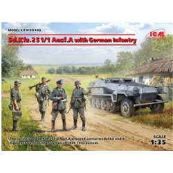 ICM 35103 1/35 Sd.Kfz.251/1 Ausf.A with German Infantry