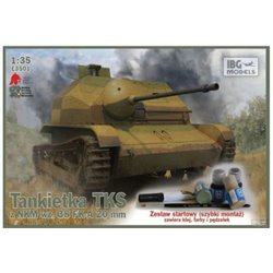 IBG Models E3501 1/35 TKS Polish Tankette with 20mm NKM wz. 38 FK-A