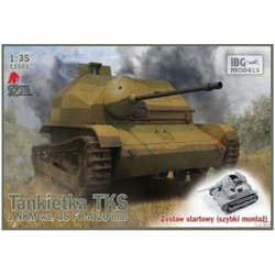 IBG Models E3503 1/35 TKS Polish Tankette with 20mm NKM wz. 38 FK-A