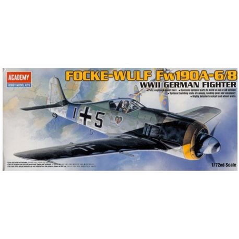 Academy 12480 1/72 Focke-Wulf Fw190A-6/8 WWII German Fighter