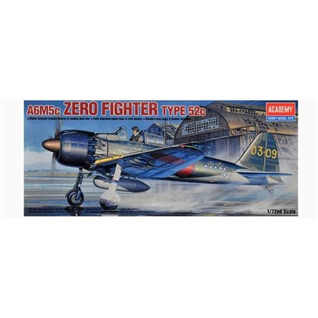 Academy 12493 1/72 A6M5c Zero Fighter Type 52c