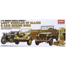 Academy 13416 1/72 Light Vehicles Of Allied & Axis During WWII