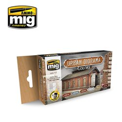 AMMO BY MIG A.MIG-7177 Urban Diorama Colors 6x17ml