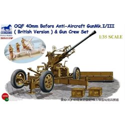 BRONCO CB35111SP 1/35 OQF 40mm Bofors Anti-Aircraft Gun Mk.I/IIIBritish Version